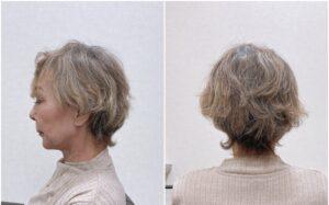 ふんわり、ボリューム感のあるショートヘア